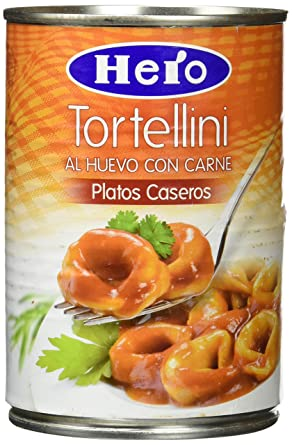 Hero - Tortellini al Huevo con Carne Platos Caseros, 420 gr, pack de 6