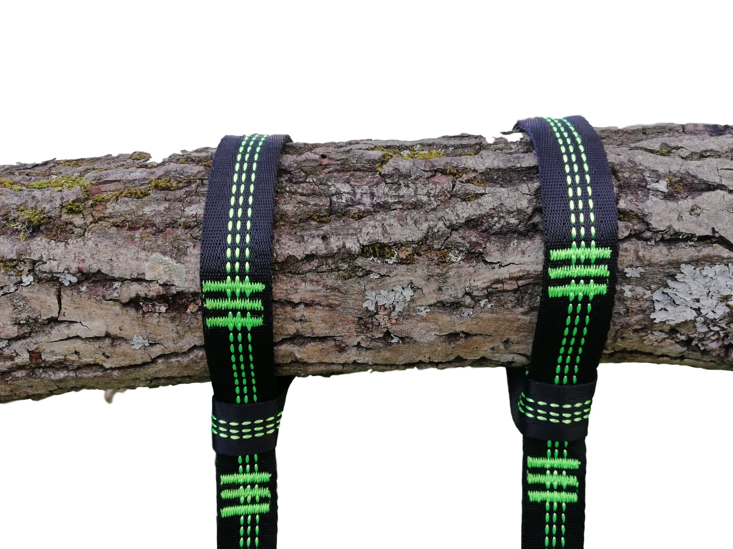 Tree Swing Hanging Straps Kit Holds 2000 lbs, 10ft Extra Long Straps with 2 Safe Lock Carabiners, 15+15 Loops, Perfect for Tree Swings and Hammocks, Easy Fast Installation