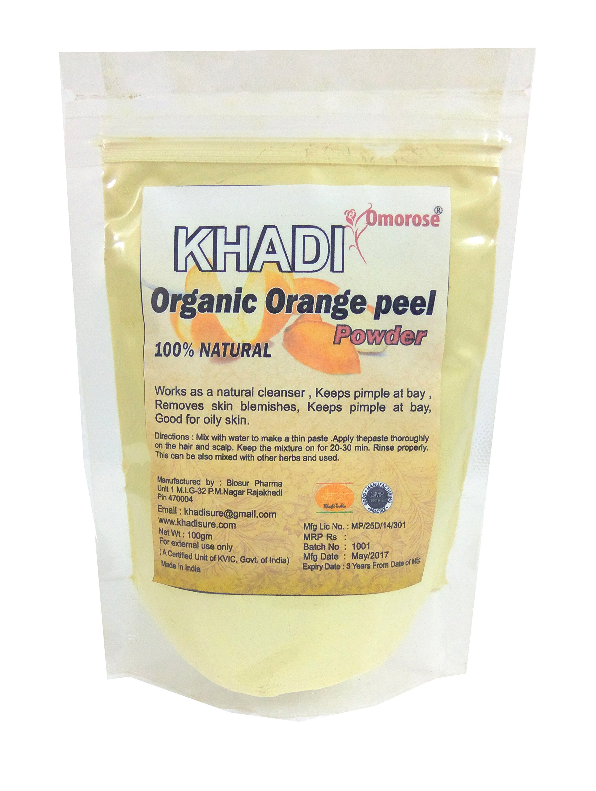 Khadi Omorose Orange Peel Powder (100 G)
