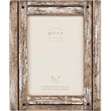 PRINZ Homestead 5-Inch by 7-Inch Photo Frame in Distressed Wood Finish, Natural