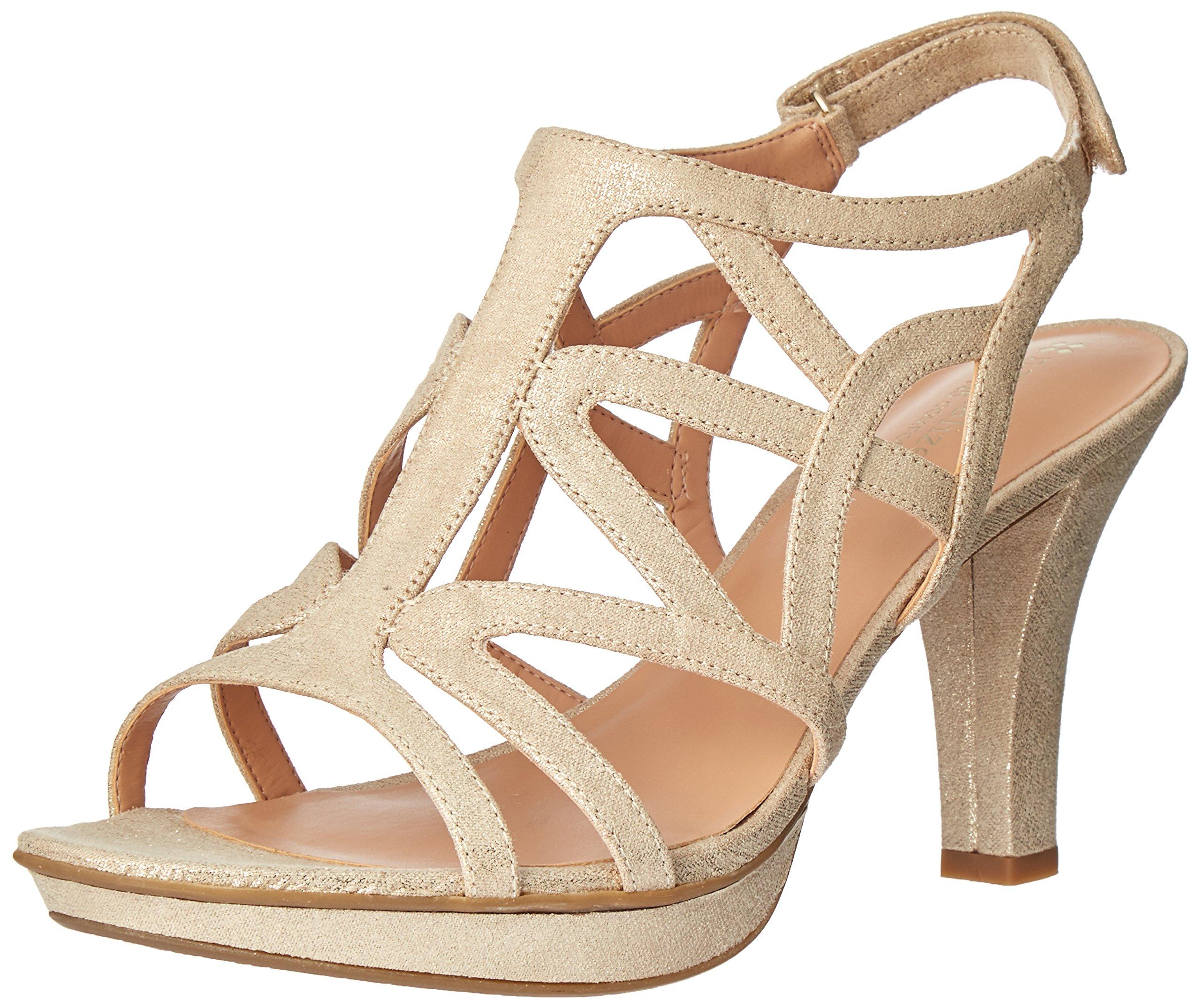 Naturalizer Women's Danya Platform Dress Sandal, Taupe/Gold, 8.5 M US