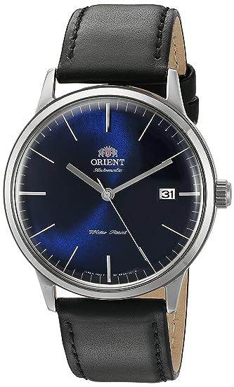 Orient Bambino Version 3 ER2400LD - Reloj de pulsera, automático, señales horarias de color plateado, dial de color azul: Amazon.es: Relojes