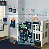 Lambs & Ivy Bubbles and Squirt 5 Piece Bedding Set (Discontinued by Manufacturer)
