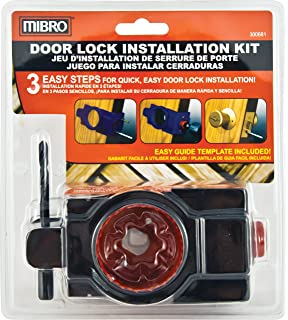 MIBRO 300681 Carbon Steel Door Lock and Deadbolt Installation Kit for Wood Doors