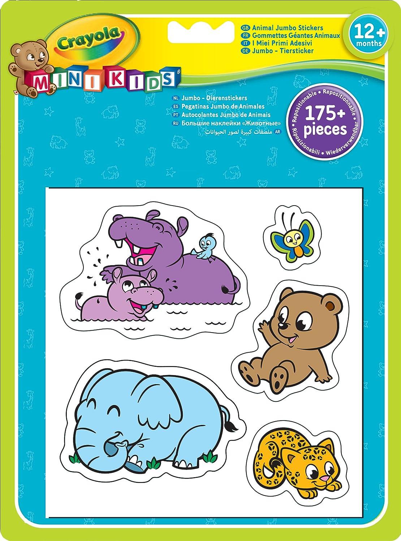 Crayola 12599 - Pegatinas Gigantes De Animales