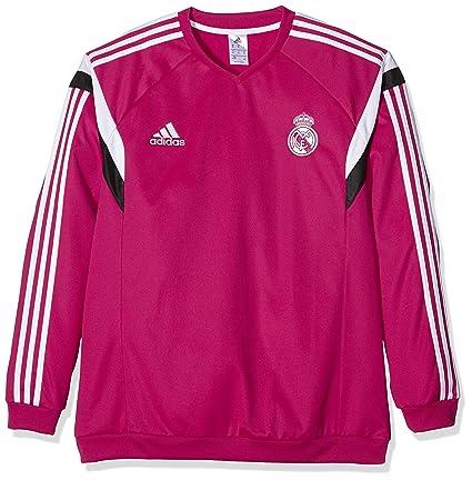 adidas Sweatshirt Real Madrid - Sudadera de fútbol para Mujer, Color Rosa, Talla 2XL