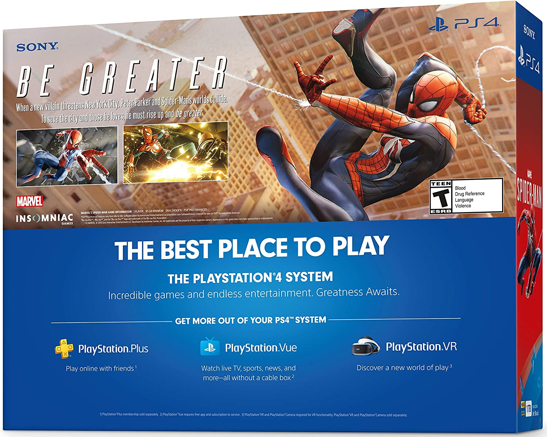 Amazon com: PlayStation 4 Slim 1TB Console - Marvel's Spider