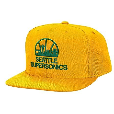 buy popular 71296 b8b2e low price nba mitchell ness team logo solid hardwood classics adjustable  snapback hat seattle supersonics 80e84