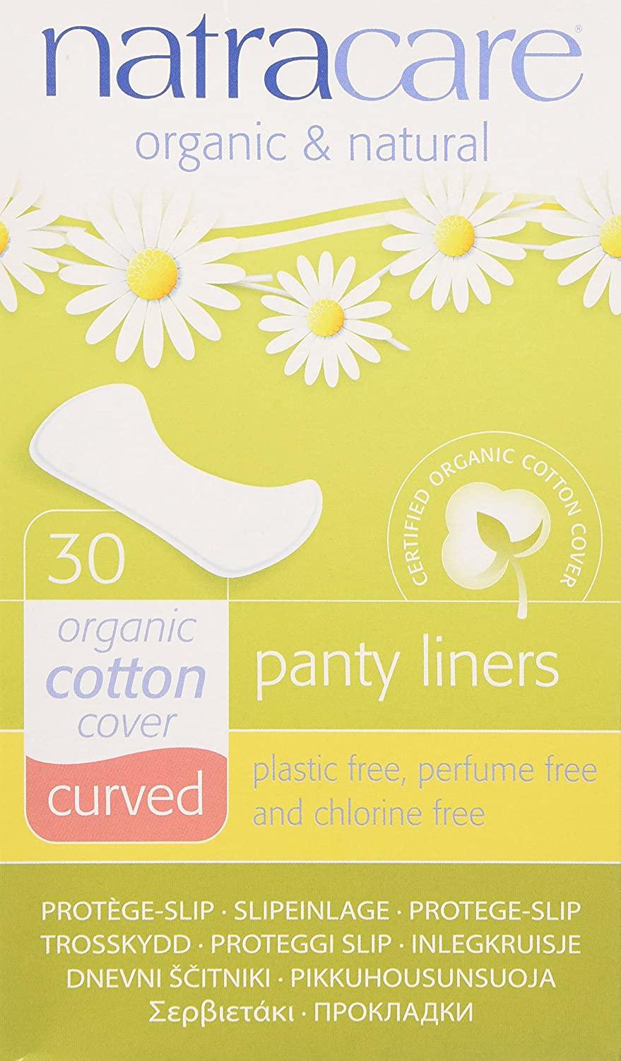 Natracare Organic & Natural Curved Panty Liners 30 ea