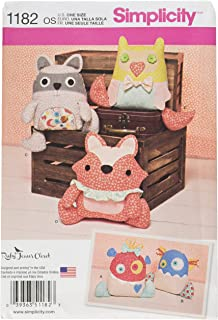product image for Simplicity Patterns US1182OS Stuffed Animals and Monsters, OS (ONE Size)