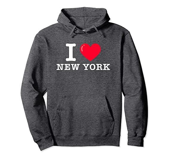 Amazon com: I Heart New York Classic Typewriter Font Hoodie