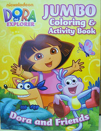 Amazon.com: Dora The Explorer Jumbo Coloring And Activity Book [Toy] [Toy]:  Toys & Games