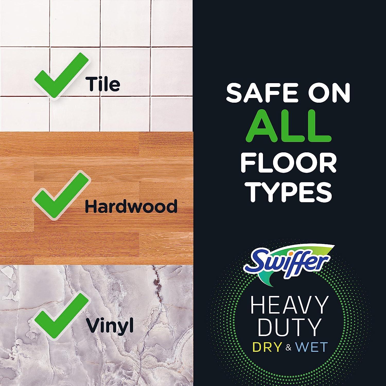 Swiffer on vinyl floor