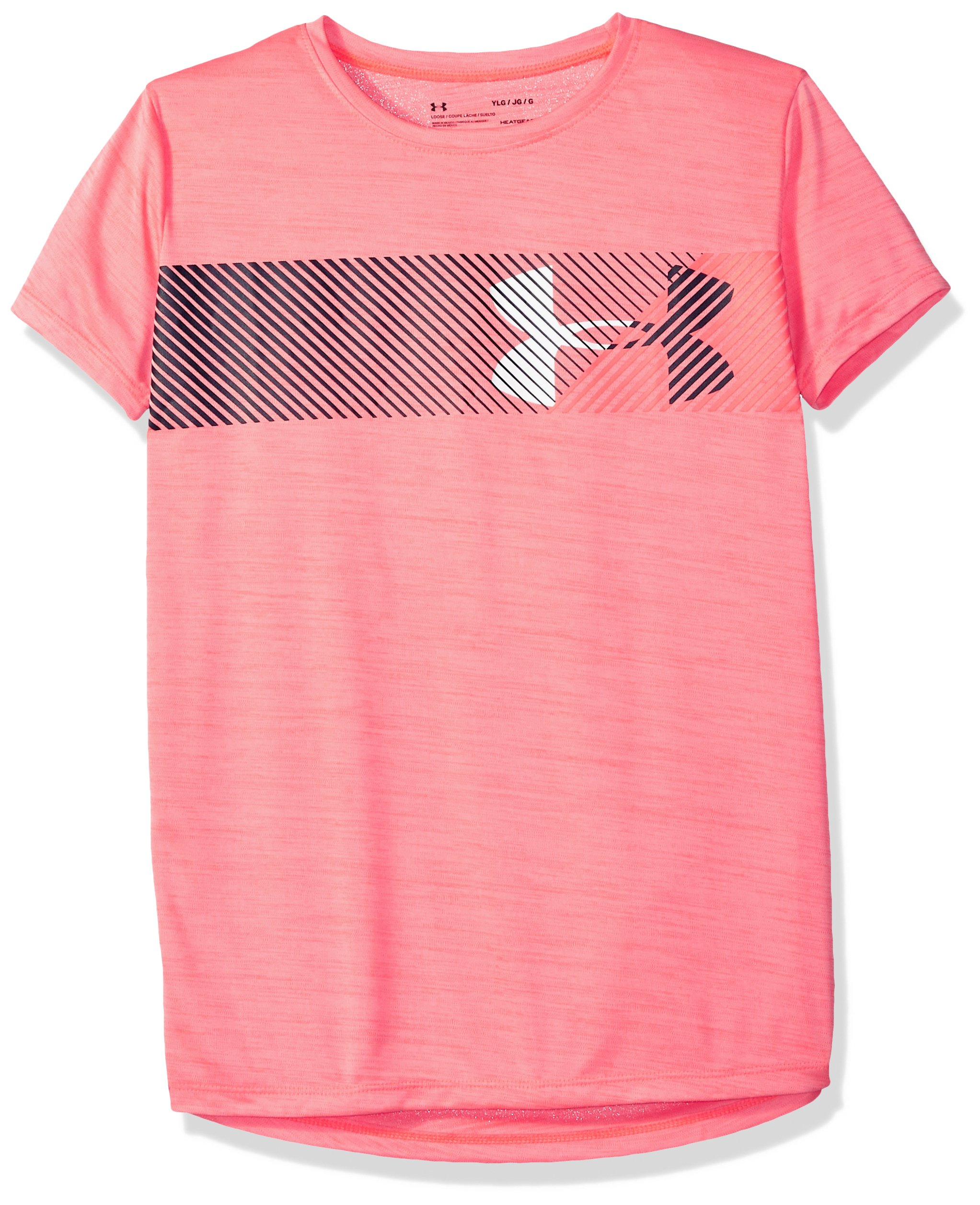 Under Armour Girls' Hybrid Big Logo T-Shirt, Brilliance /Brilliance, Youth Medium