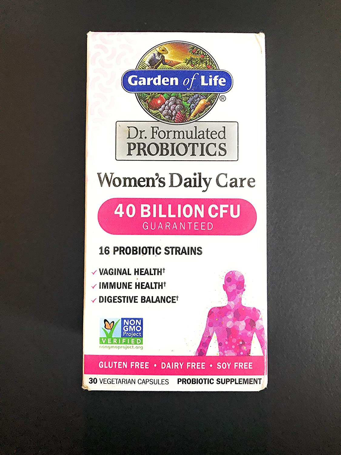 Garden of Life Dr. Formulated Women's Daily Care 30 Capsules 40 Billion CFU 16 Strains Vaginal Health, Immune Health, Digestive Health