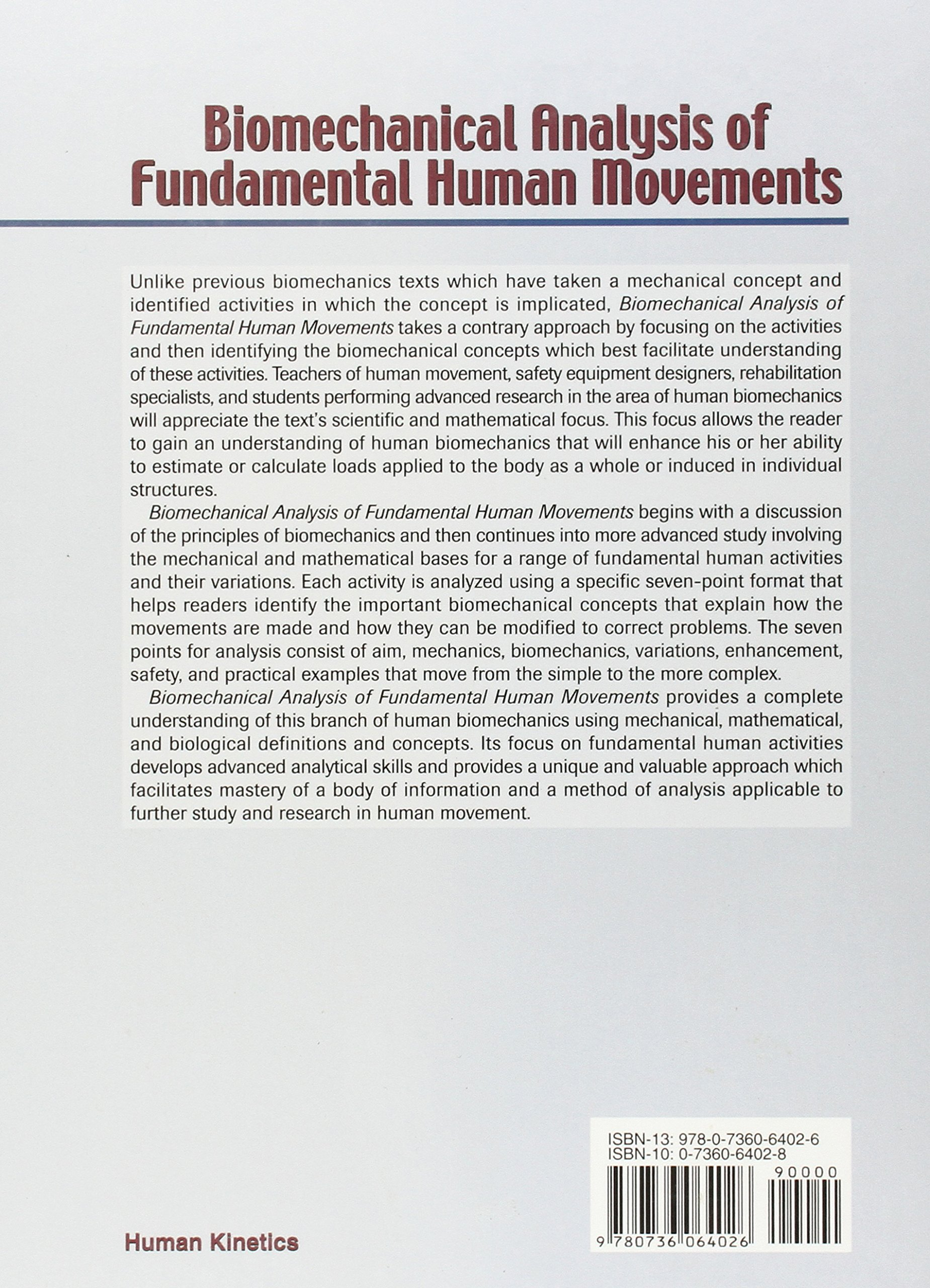 HLTH SC 2101 - Fundamentals of Biomechanics and Human Movement