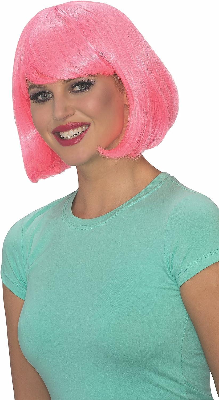 Rubies Costume Co Womens Blue Glow Bob Wig