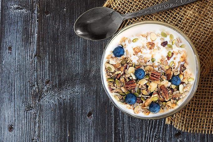 Keto Blueberry Nut Granola Cereal de desayuno saludable para ...