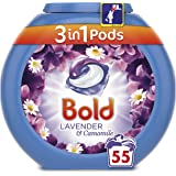 Bold 3-in-1 Pods with a Touch of Lenor Long Lasting Freshness, 55 Washes,áLavender and Camomile Washing Capsules