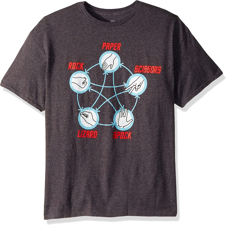 11 Colores Ladies T-shirt Rock Papel Tijera Lagarto Spock-Para Mujer