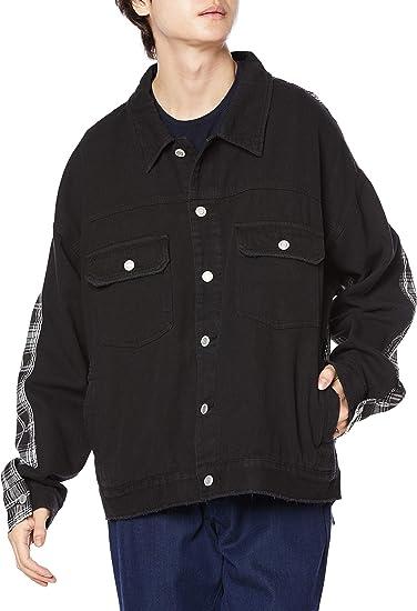 [ジャングルストーム] ジャケット 異素材着替えチェックGジャン メンズ