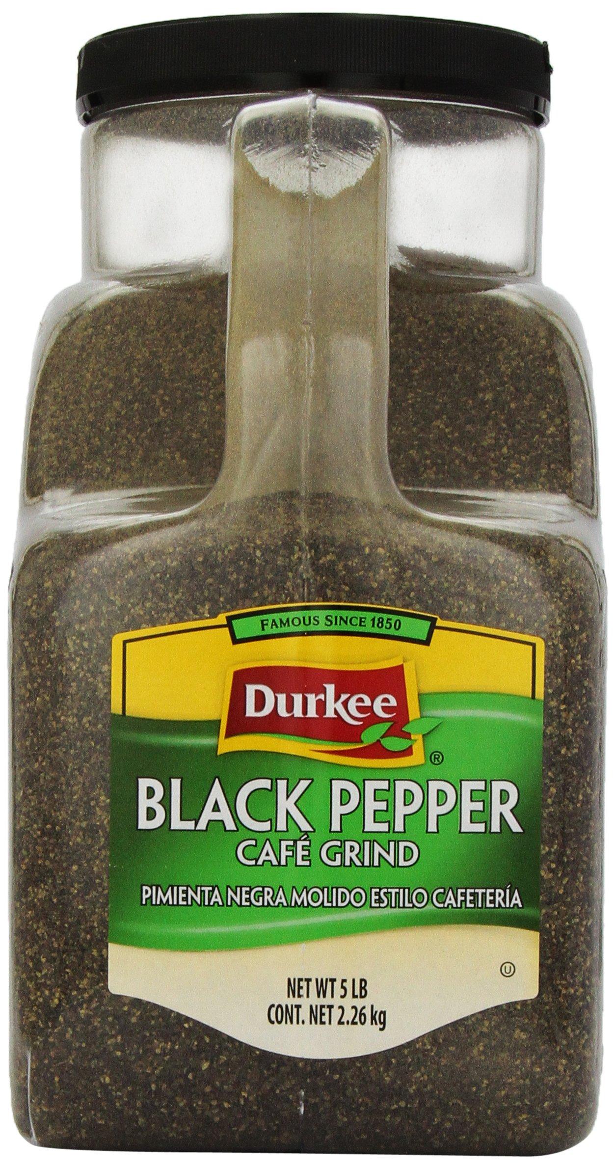 Durkee Black Pepper, Caf? Grind, 5-Pound