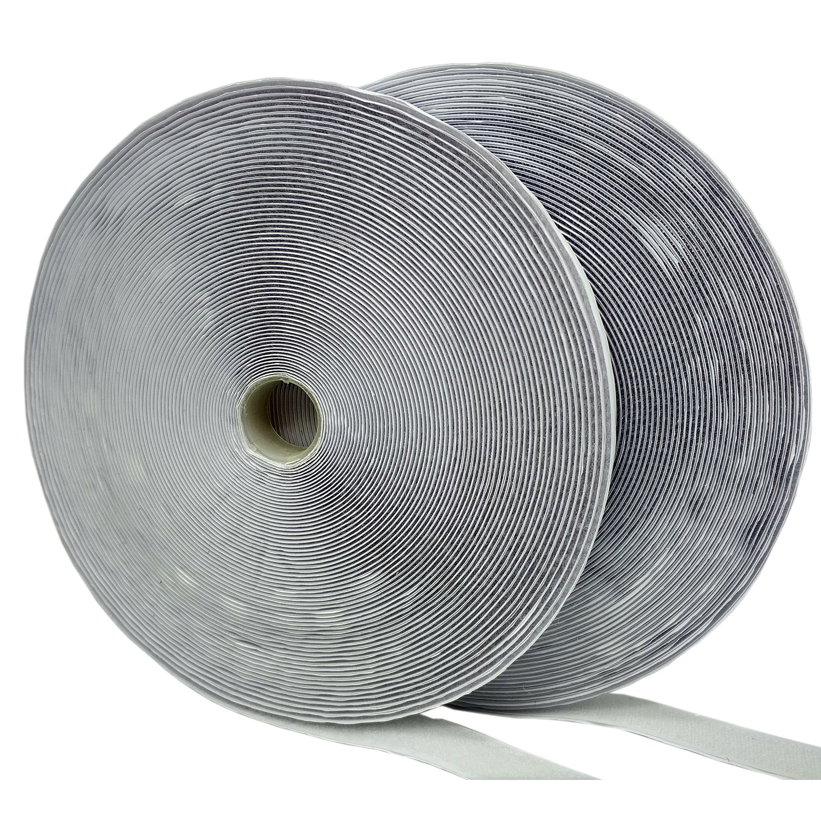 Eroilor 25 Meter (82 ft) Long 50mm (2 inch) Width Hook and Loop Tape Self-Adhesive Tape - White by Eroilor