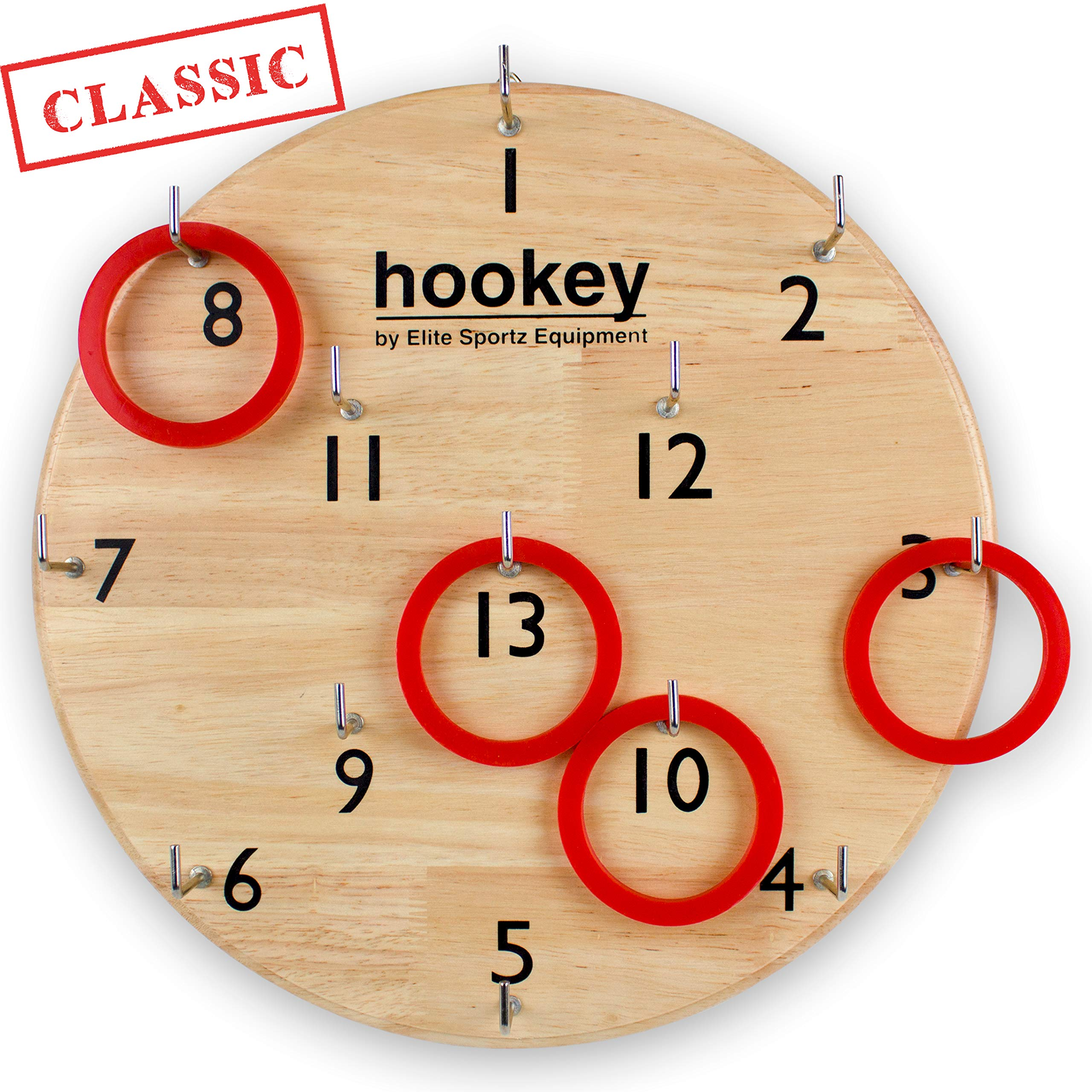 Elite Sportz Gifts for Men, Teens and Safe Games for Kids - Our Beautifully Finished Hookey Games Make Great Christmas Gifts for All. Easy Set-Up, Simply Hang and Play by Elite Sportz Equipment
