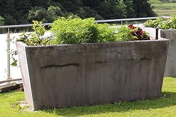 Hochbeet Pflanzenkubel Aus Beton 200x100x90 Amazon De Garten