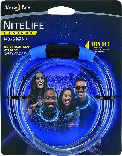 Nite Ize NiteLife LED Necklace Green Glows /& Flashes Safety Light Adjustable Fit