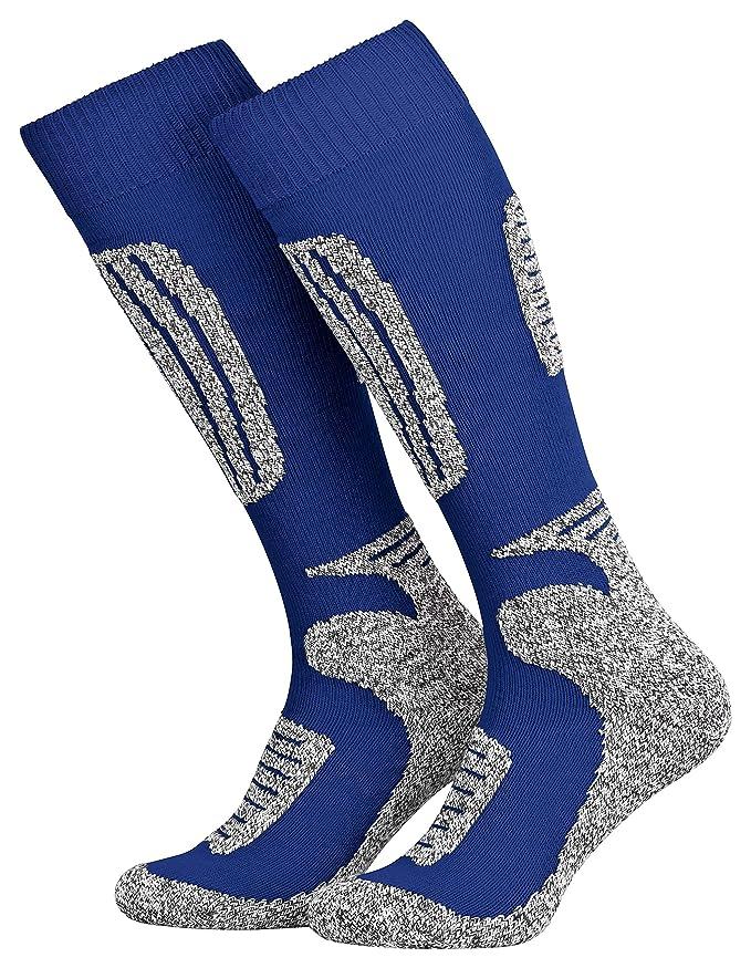 Tobeni 2 Pares de Esqui Funcional Snowboard Calcetines de Invierno para Mujer y Hombre: Amazon.es: Ropa y accesorios