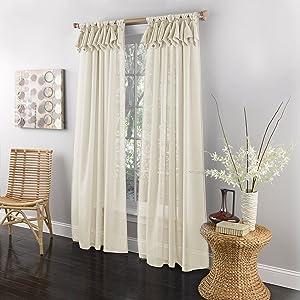 LORRAINE HOME FASHIONS Breeze Tab Top Window Panel, 54