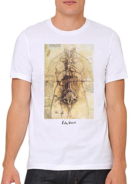Camiseta Leonardo Da Vinci -Studio Anatomia - Rinascimento Unisex ...