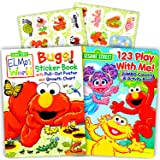 sesame street elmo coloring book set with stickers 2 book set - Elmo Coloring Book