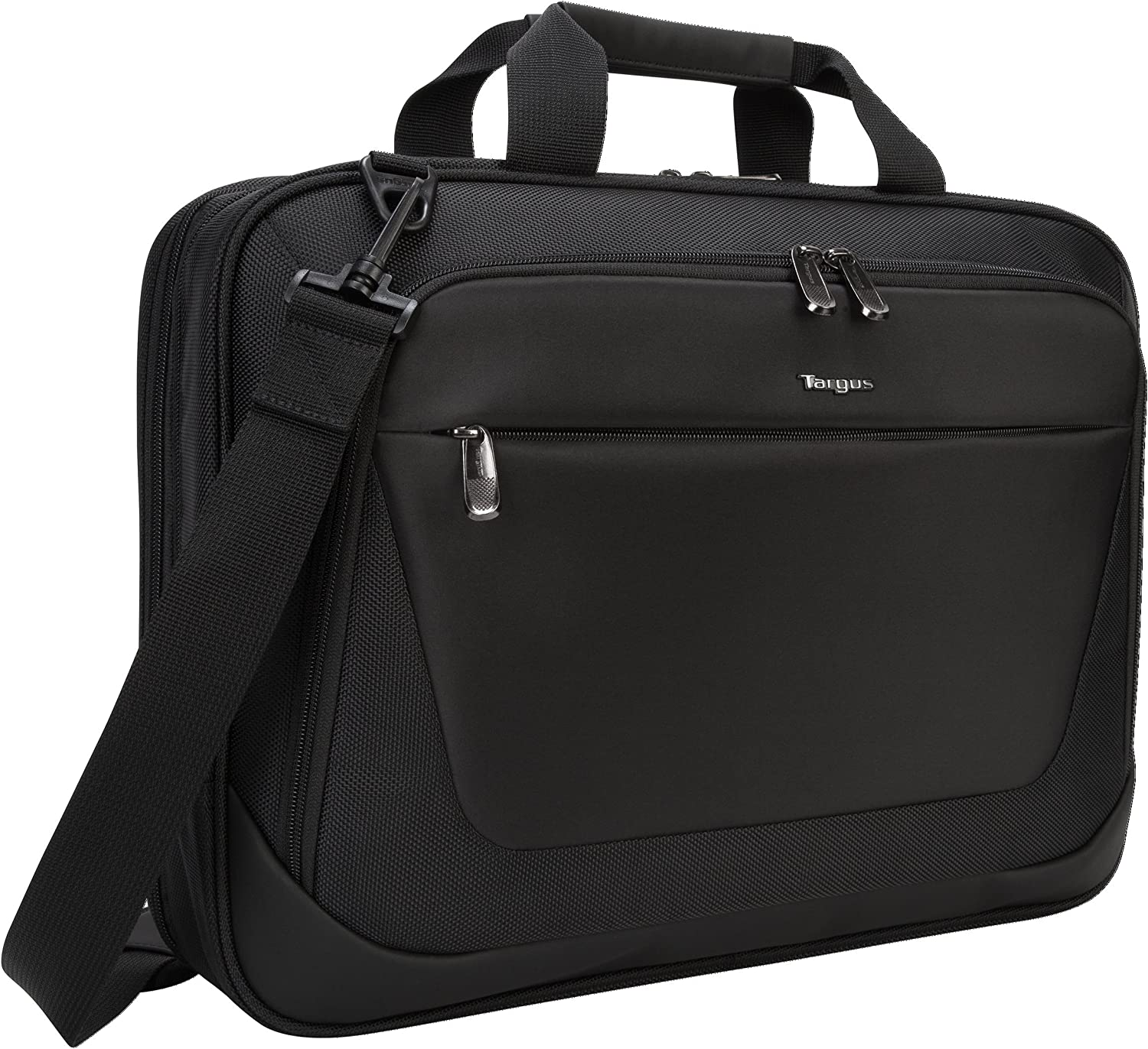 Targus CityLite Laptop Briefcase Shoulder Messenger Bag for 15.6-Inch Laptop, Black (TBT053US)