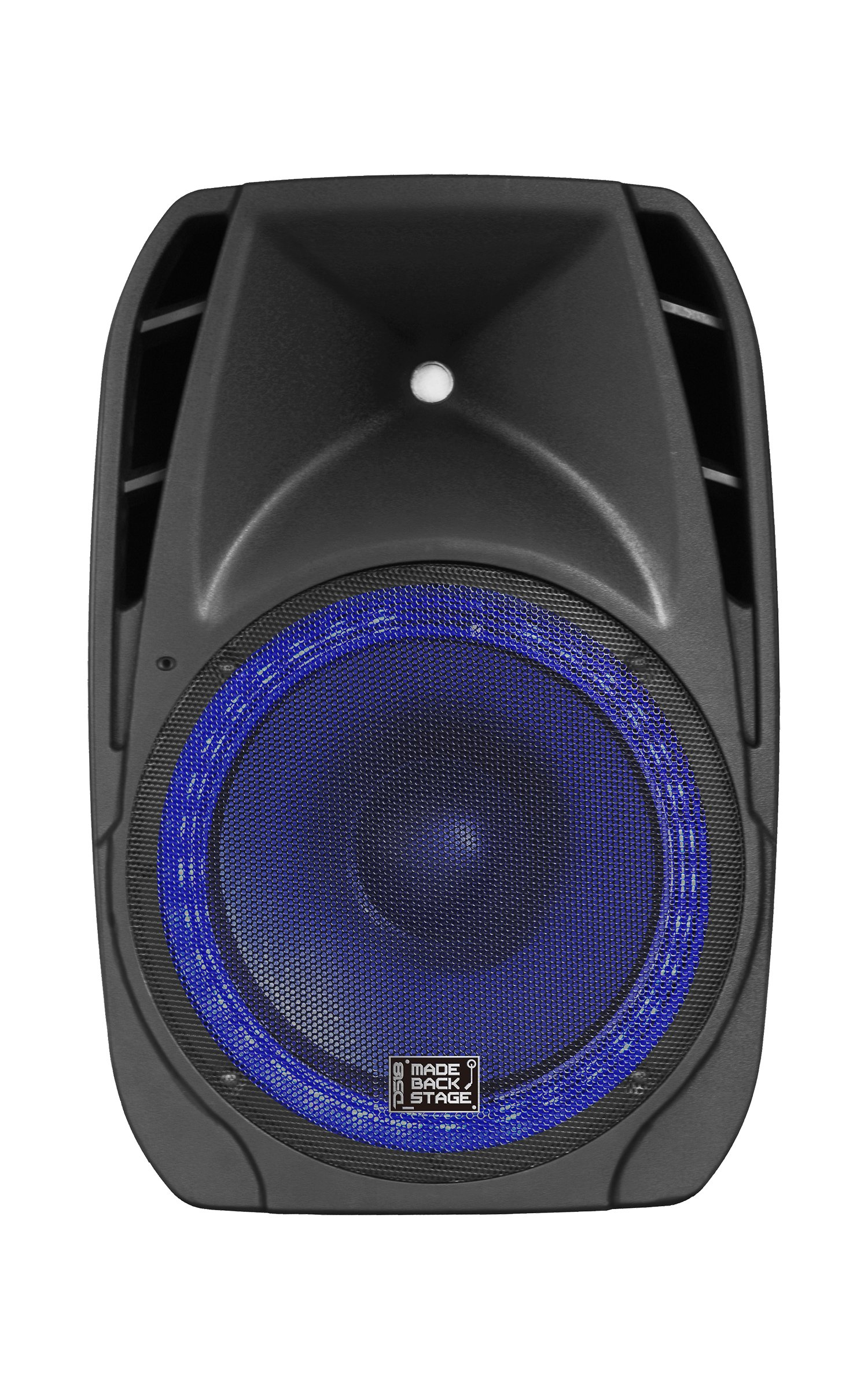 DS18 MB-PW15BTLED 15-Inch 2-Way 2,000 Watts Active Speaker with Remote/Bluetooth/MP3/USB/SD/FM Radio and LED Accent Lights