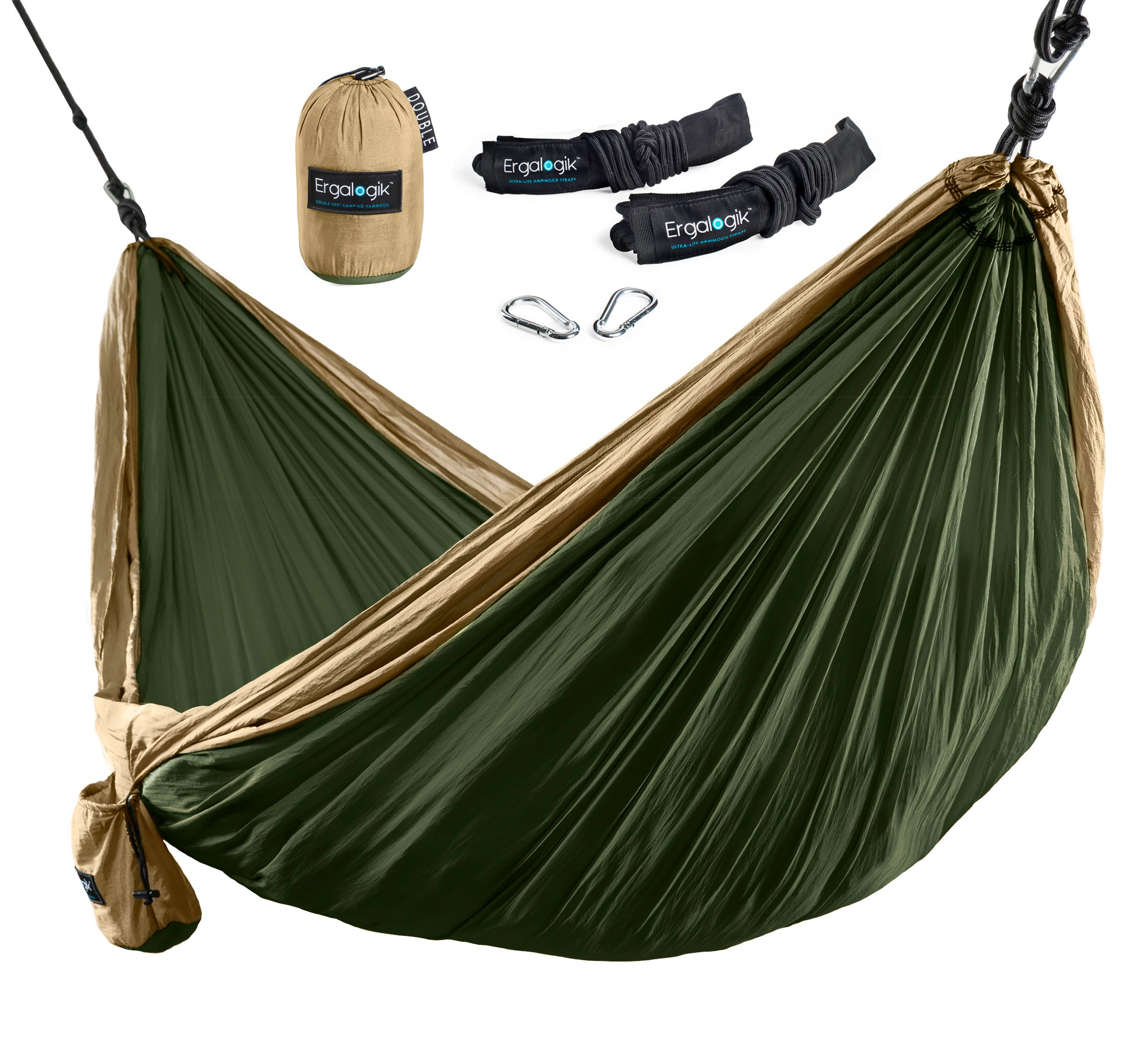 Ergalogik Tree Friendly Double Nest Camping Hammock W Premium Hammock Straps .. 14