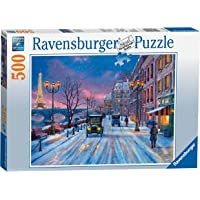 Ravensburger Winter in Paris Puzzle 500pc,Adult Puzzles