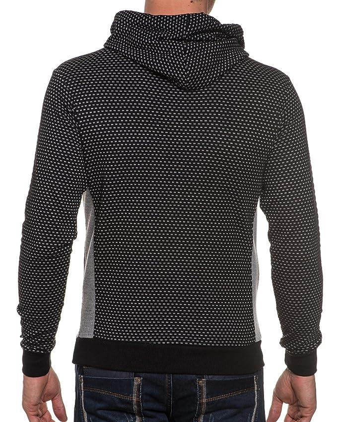 BLZ jeans-Sudadera con capucha para hombre térmica, al por mayor bolsillo y canguro negro X-Large: Amazon.es: Ropa y accesorios
