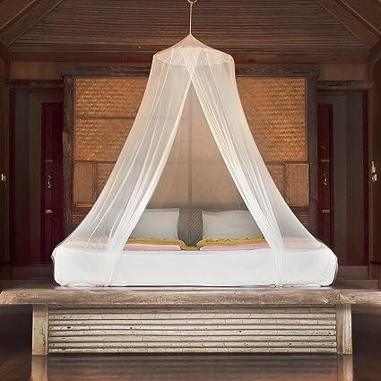 Premium Mosquito Net Canopy For Bed | White Netting For Teen Girls Boho  Decor | Princess