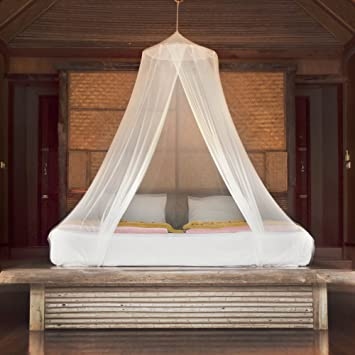 Premium Mosquito Net Canopy For Bed | White Netting for Teen Girls Boho Decor | Princess : boho bed canopy - memphite.com