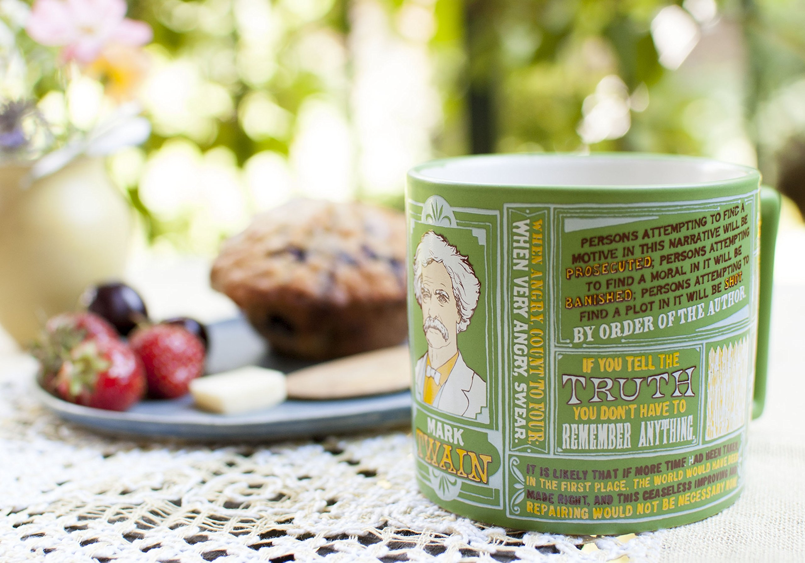 Mark Twain Coffee Mug - Twain's Most Famous Quotes and Depictions - Comes in a Fun Gift Box by The Unemployed Philosophers Guild (Image #5)