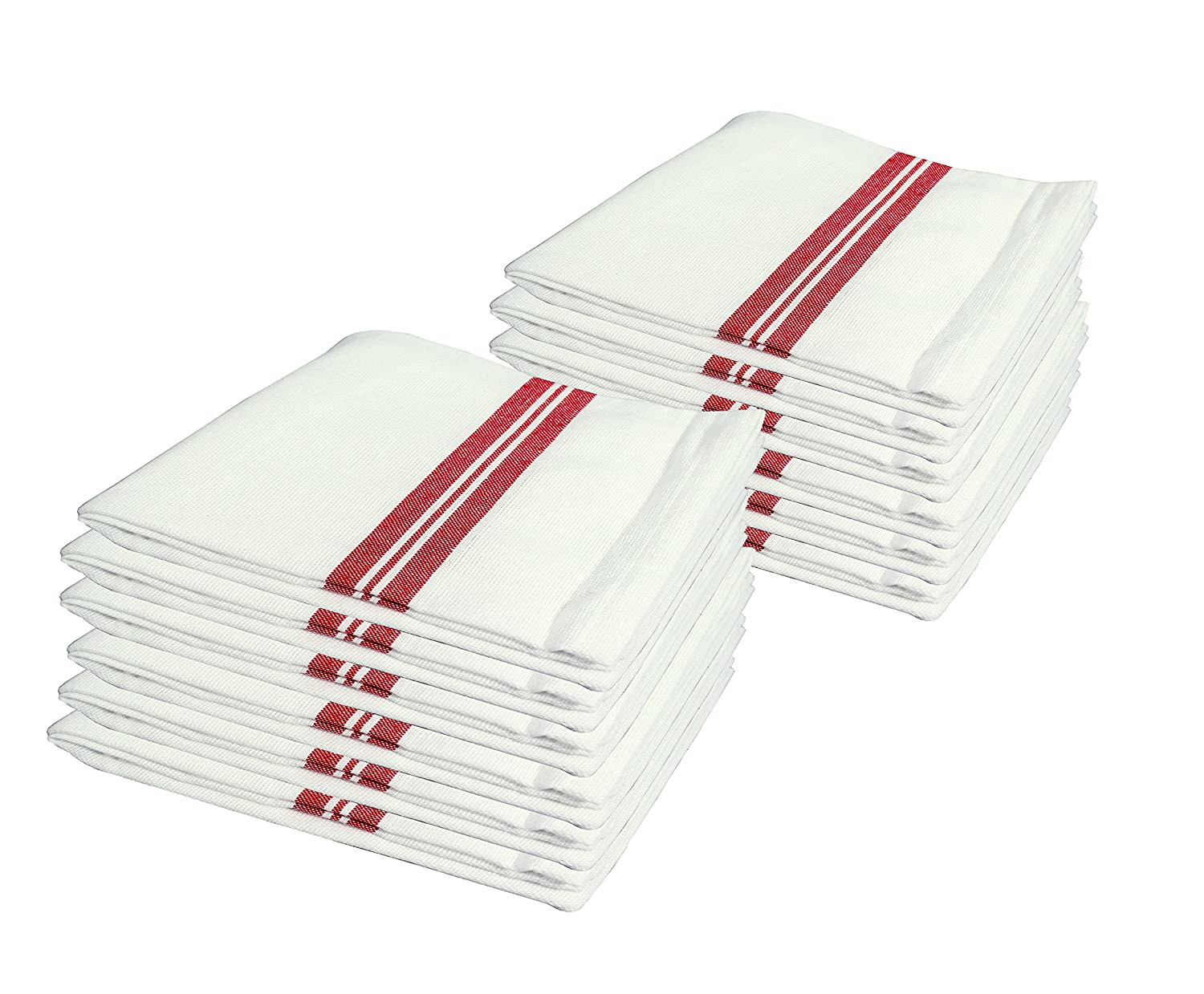 Cotton Kitchen Towels, Set of 12 Towels(16.5 inx26.5in) White Kitchen Towels, Dish Towels Selinz