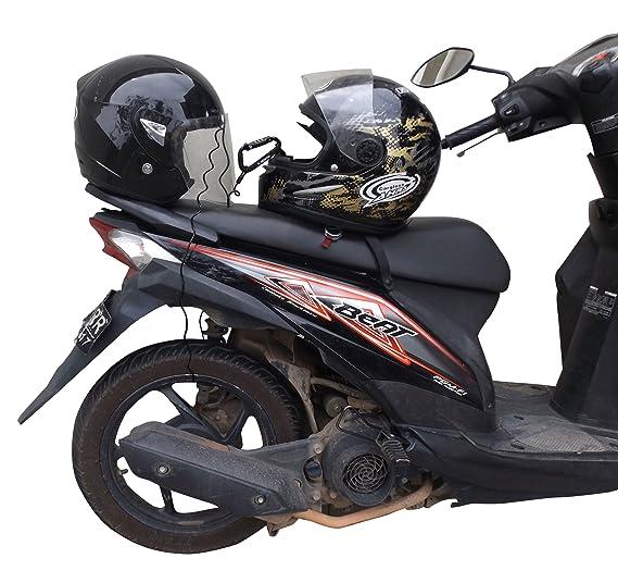 BigPantha - Candado para Casco de Motocicleta y Cable Elegante mosquetón Negro con combinación rígida Que asegura tu Motocicleta, Bicicleta o Scooter (Gorro ...