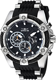 54ef0eb78 Invicta Men's Bolt Stainless Steel Quartz Watch with Polyurethane Strap,  Black, 26 (Model