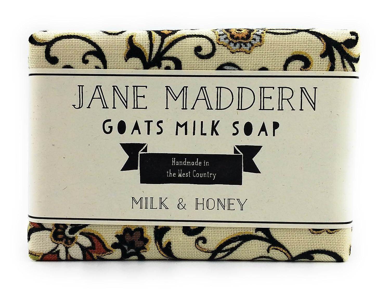 Jane Maddern Savon au lait de chèvre fait à la main - lait et miel, 90g