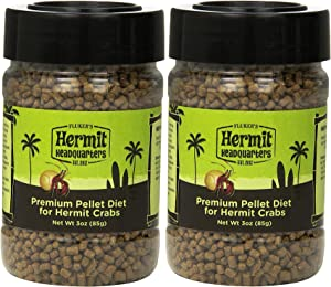 (2 Pack) Fluker's Premium Pellet Diet - Food for Hermit Crabs (3 oz. Per Container)