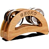 Gecko Percussion Tambourines, Wood Blocks with Steel Jingles, Cajon Accessories