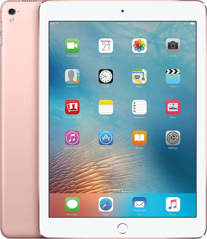 Apple iPad Pro (32GB, Wi-Fi + Cellular, Rose) 9.7in Tablet (Renewed)
