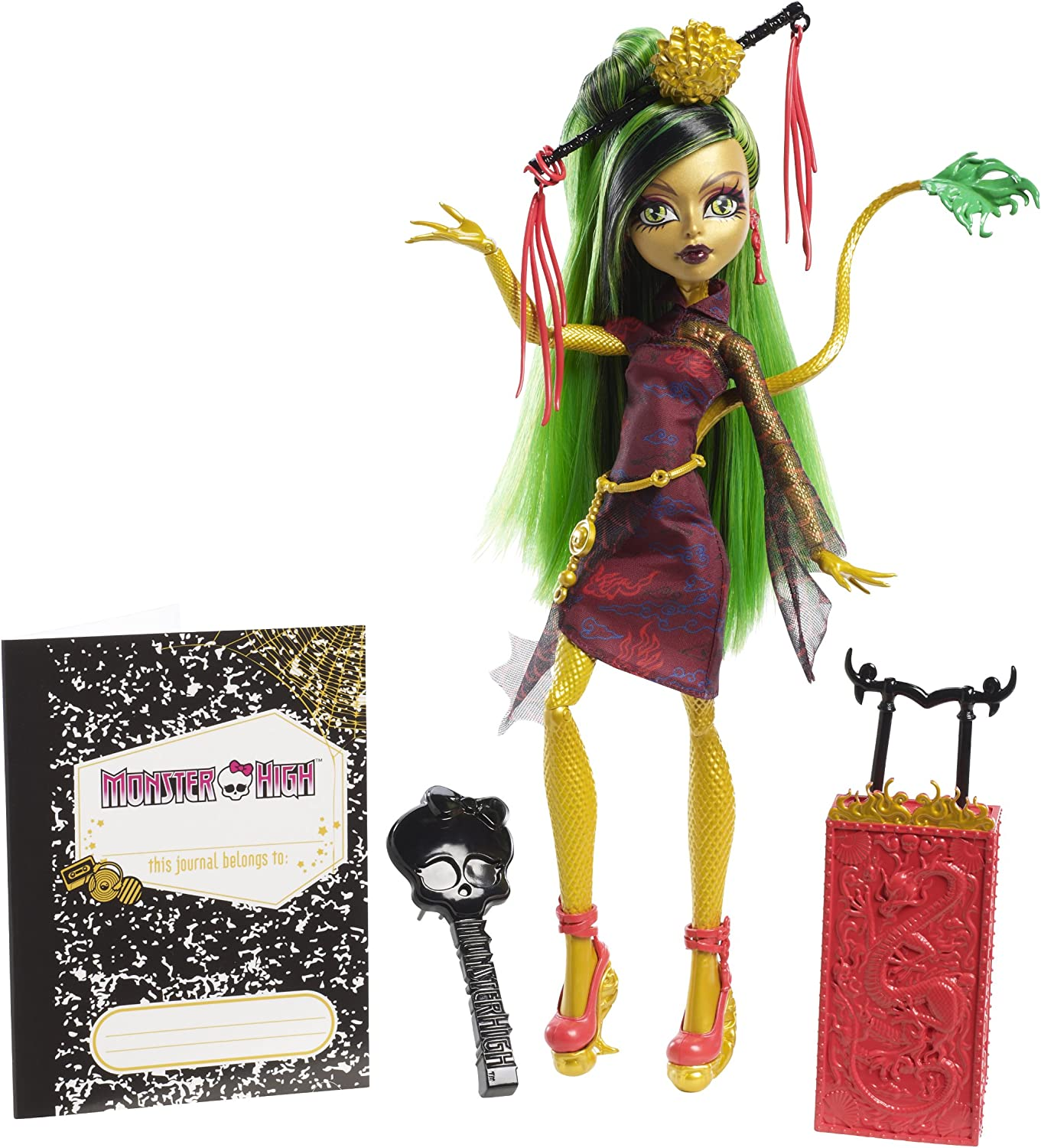 Monster High - Muñeca Scaris Deluxe, Jinafire Long (Mattel Y7645)